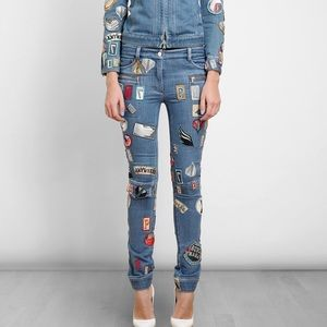 3.1 Phillip Lim Patch Covered Jeans